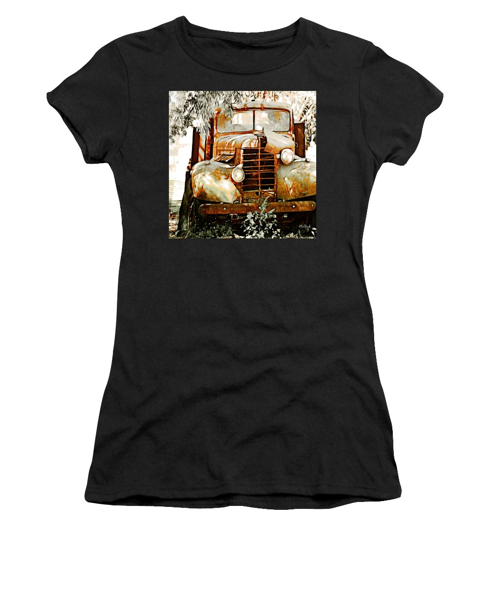 Transportation Women's T-Shirt (Athletic Fit) featuring the photograph Old Memories Never Die by Holly Kempe