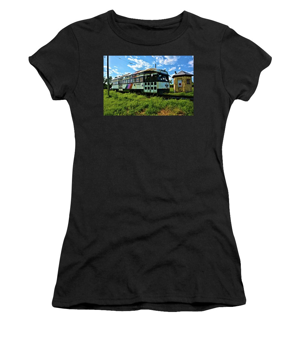 Transportation Women's T-Shirt featuring the photograph Old Street Car In Upstate New York by Richard Jenkins