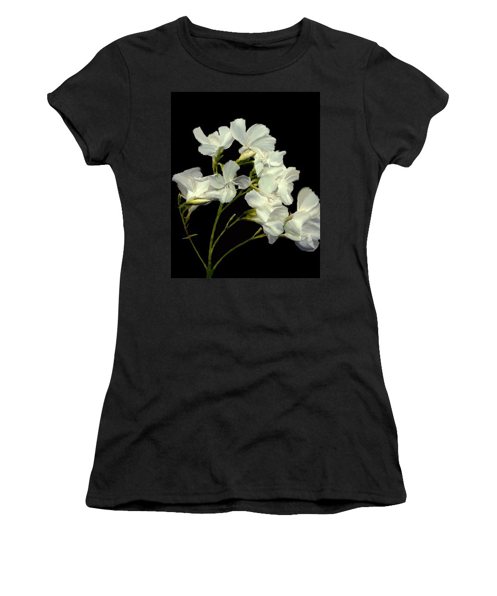 Flowers Women's T-Shirt (Athletic Fit) featuring the photograph Oleander by Kurt Van Wagner