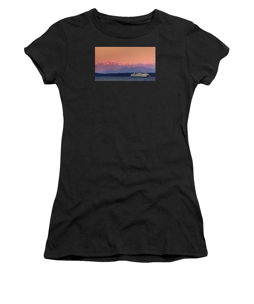 Ferry Women's T-Shirt (Athletic Fit) featuring the photograph Olympic Journey by Dan Mihai