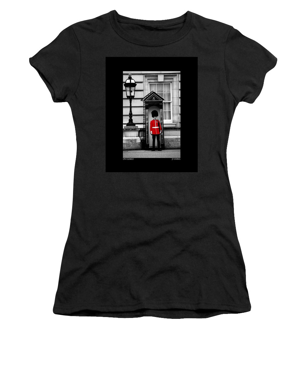 London Women's T-Shirt (Athletic Fit) featuring the photograph On Guard by J Todd