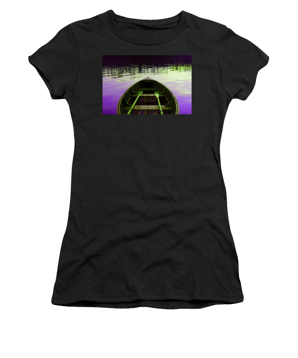 Lake Women's T-Shirt (Athletic Fit) featuring the photograph On The Lake by Ca Photography