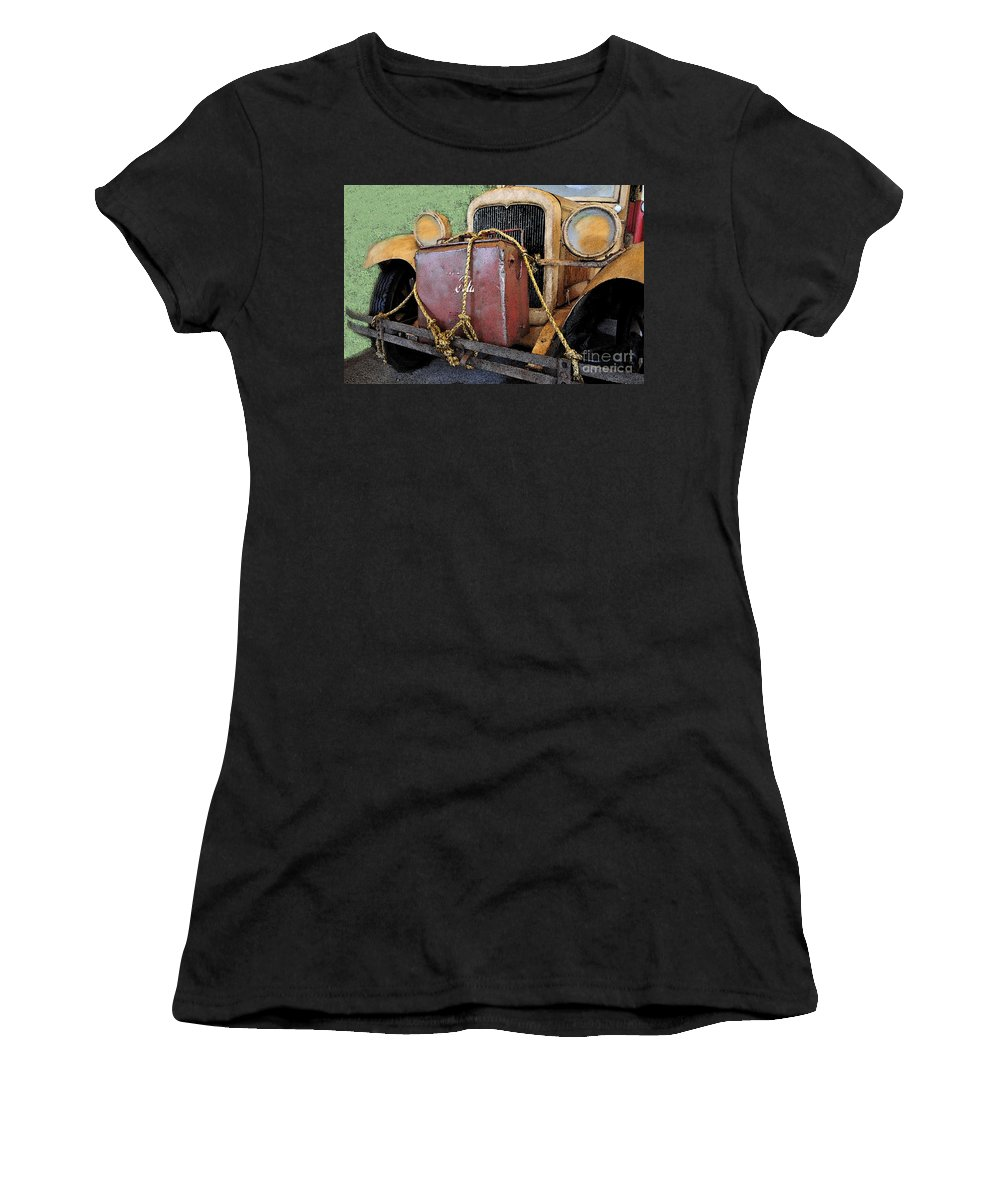Adventure Women's T-Shirt (Athletic Fit) featuring the painting On The Road To Adventure by David Lee Thompson