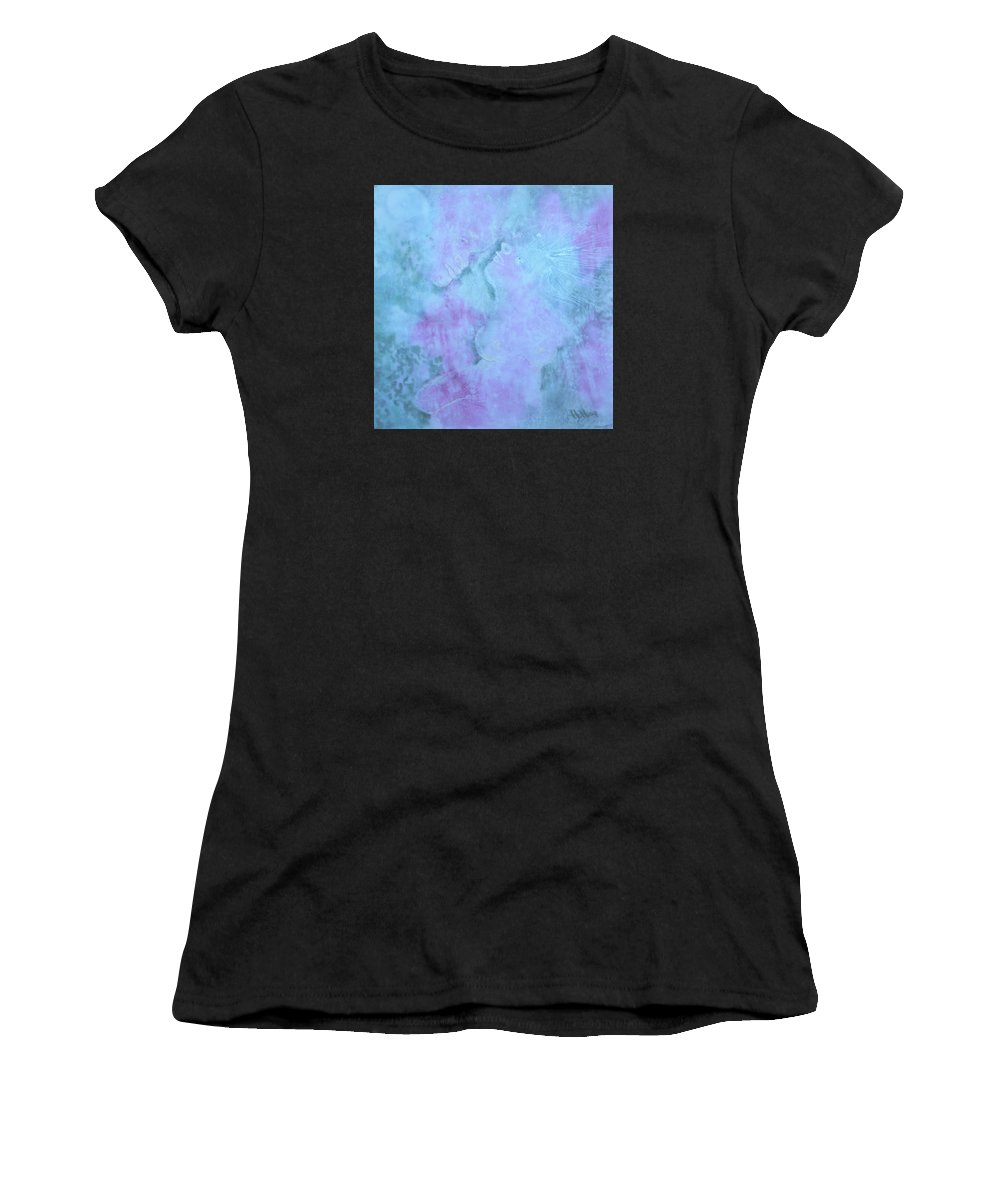 Love Women's T-Shirt (Athletic Fit) featuring the painting Once Apon A Time... by Heather Hennick