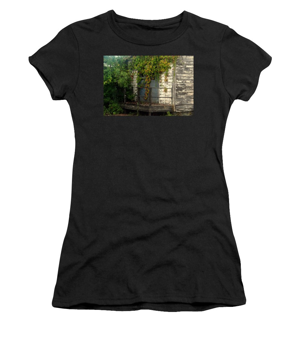Once Upon A Time Women's T-Shirt (Athletic Fit) featuring the photograph Once Upon A Time by Susanne Van Hulst