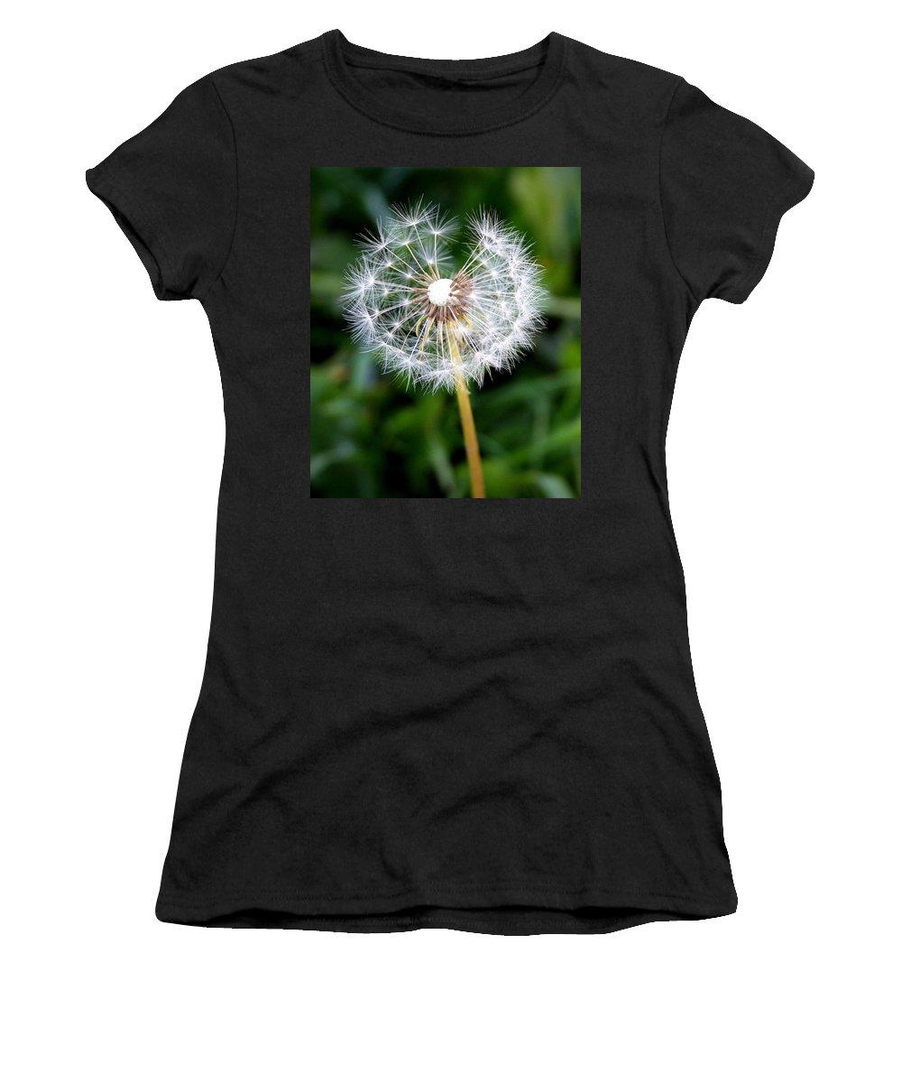 Dandylion Women's T-Shirt (Athletic Fit) featuring the photograph One Dandy Lion by Chris Brannen
