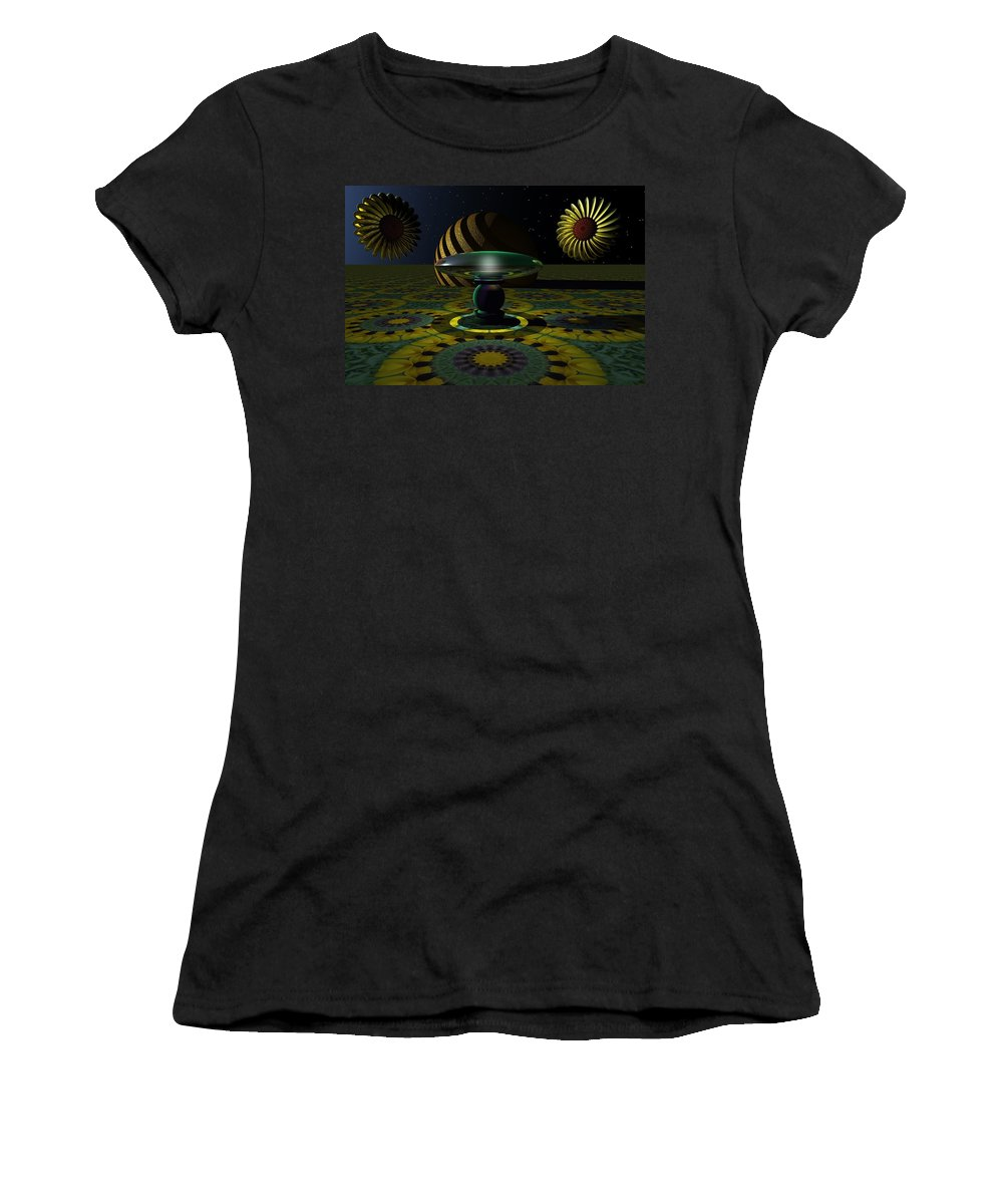 Bryce Women's T-Shirt (Athletic Fit) featuring the digital art One Last Dream Before Dawn by Lyle Hatch