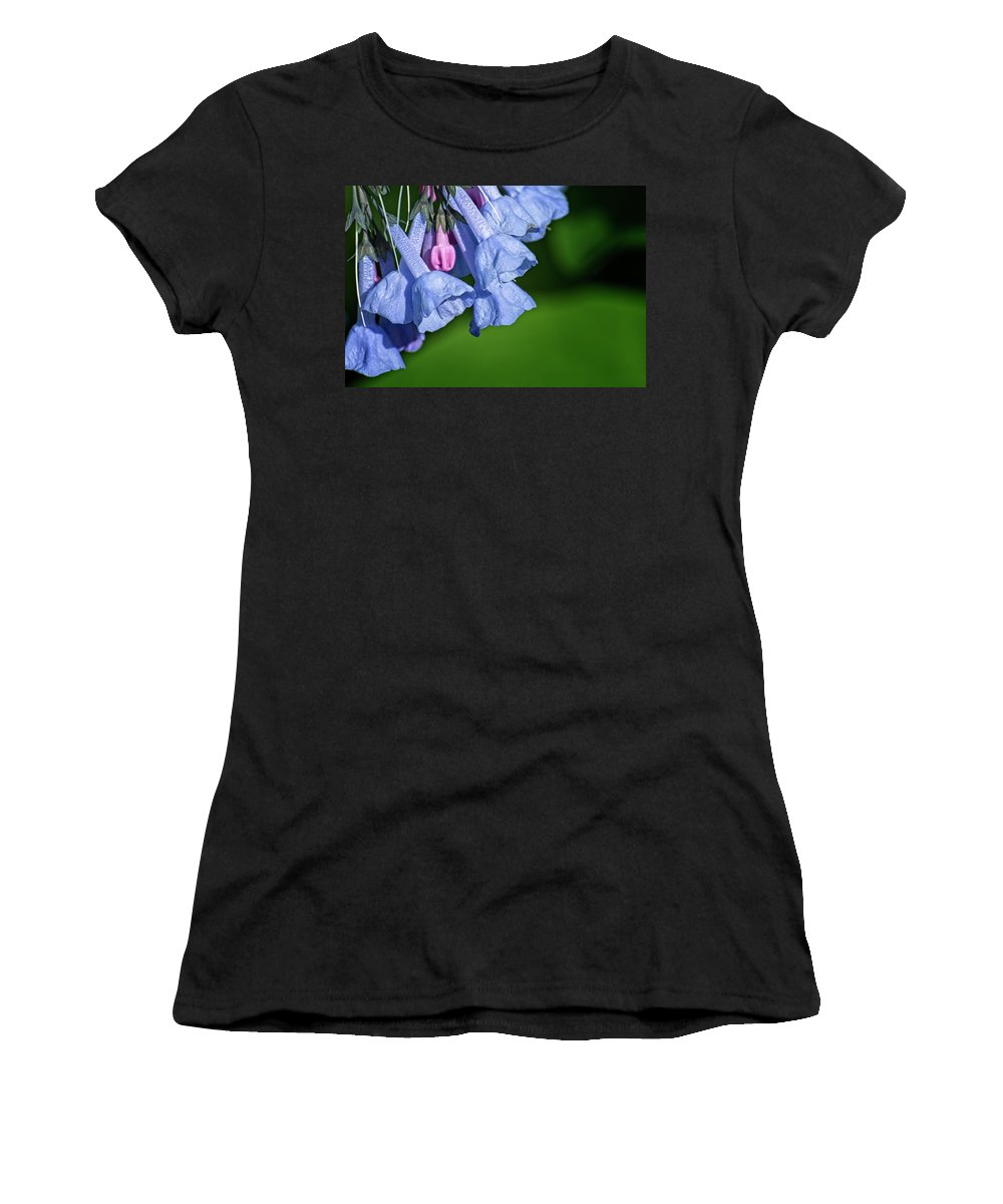 Bluebells Women's T-Shirt (Athletic Fit) featuring the photograph One Pink Bell by Lawrence Golla