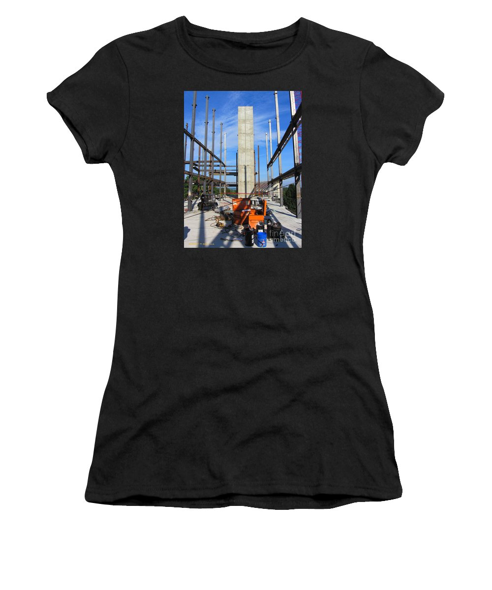 Rob Seel Women's T-Shirt (Athletic Fit) featuring the photograph One Point Monolith by Robert M Seel