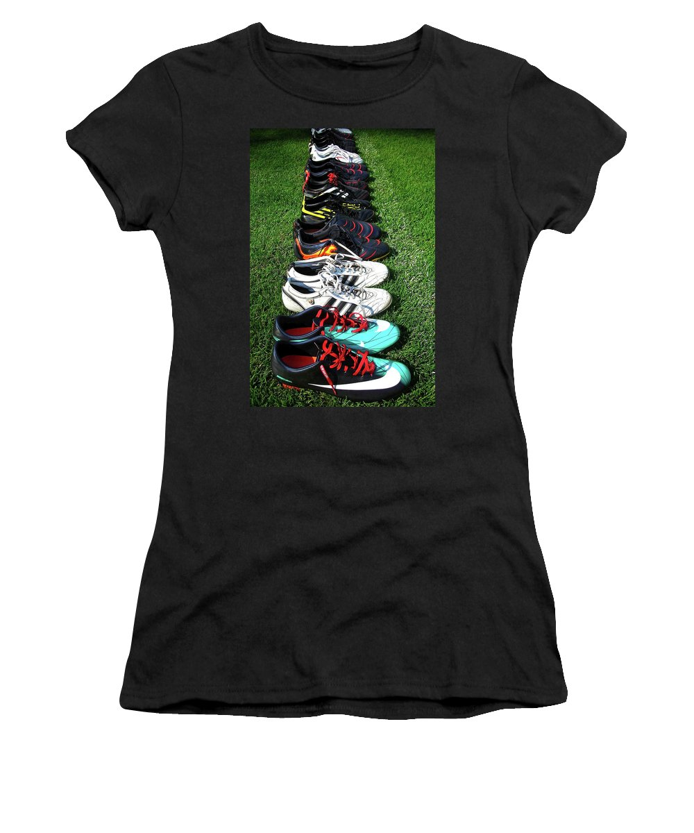 Soccer Women's T-Shirt (Athletic Fit) featuring the photograph One Team ... by Juergen Weiss
