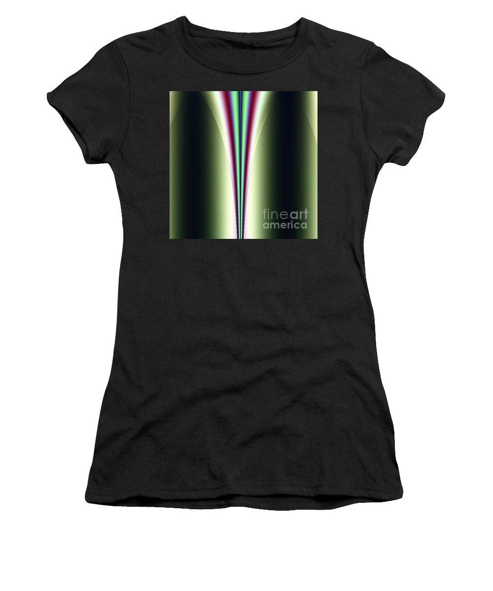 Digital Art Women's T-Shirt (Athletic Fit) featuring the digital art One Way I by Dragica Micki Fortuna