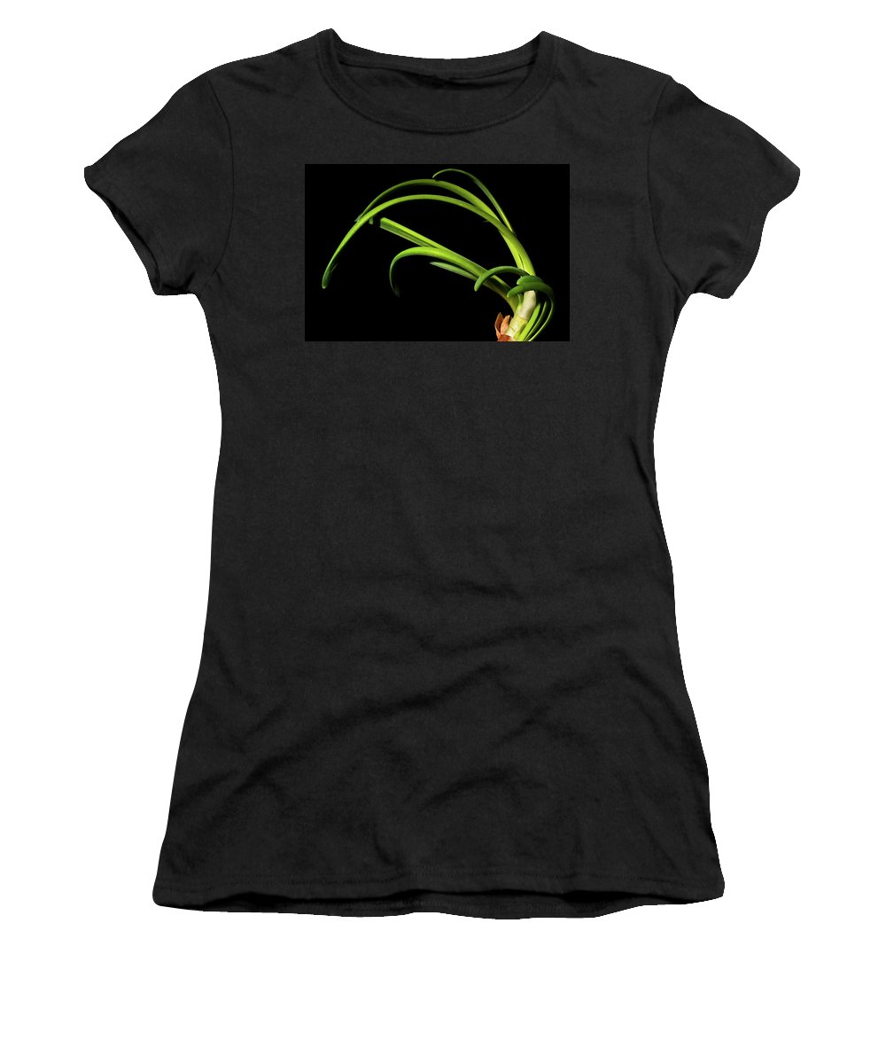 Onion Greens Women's T-Shirt featuring the photograph Onion Greens by Onyonet Photo Studios