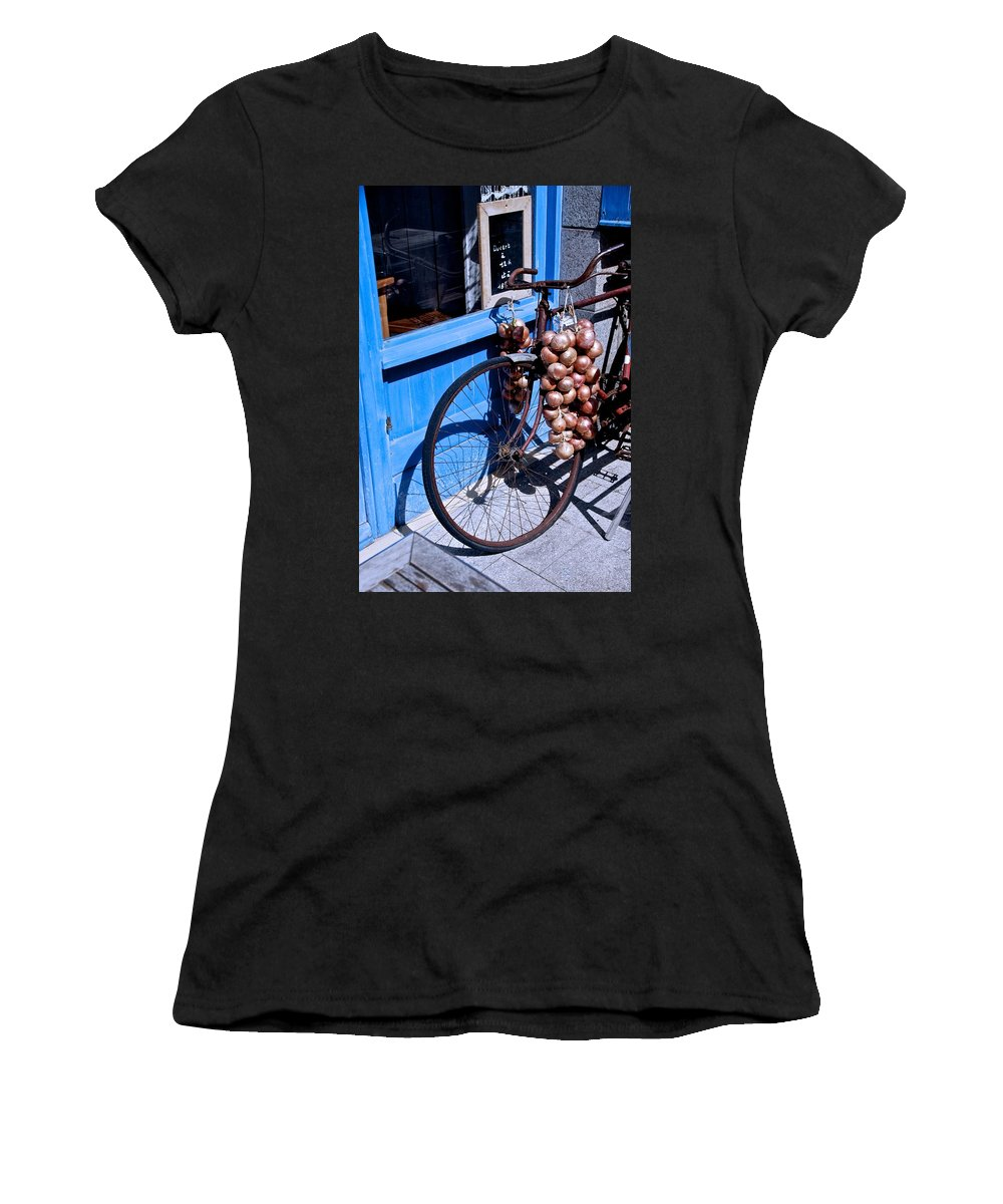 Bycicle Women's T-Shirt featuring the photograph Onion Johnnies by Eric Tressler