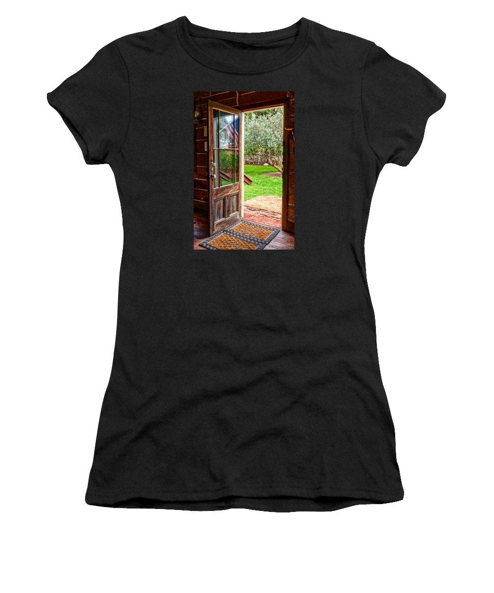 Door Women's T-Shirt featuring the photograph Open Door by Christopher Holmes