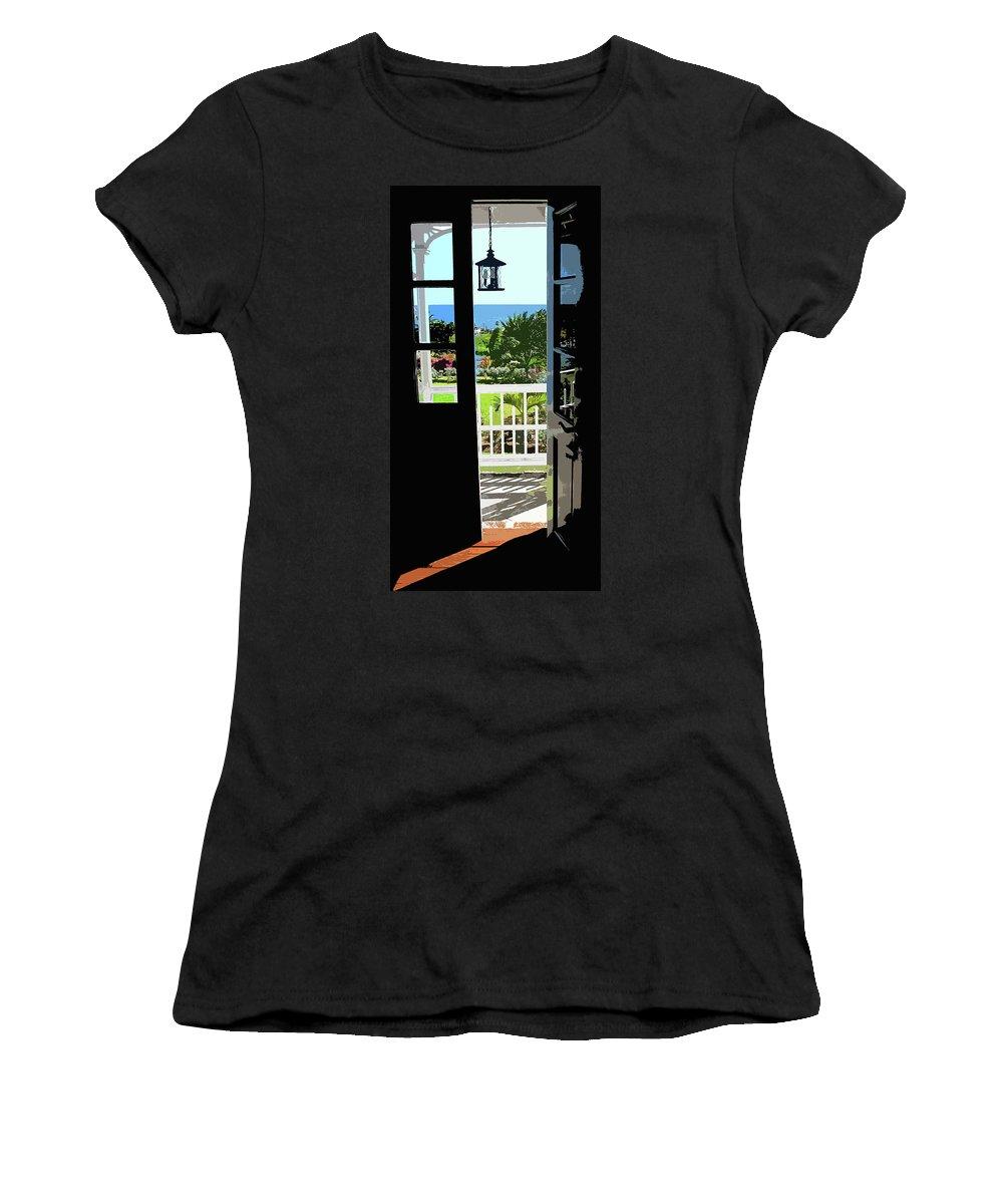 Door Women's T-Shirt (Athletic Fit) featuring the photograph Open Door by Ian MacDonald