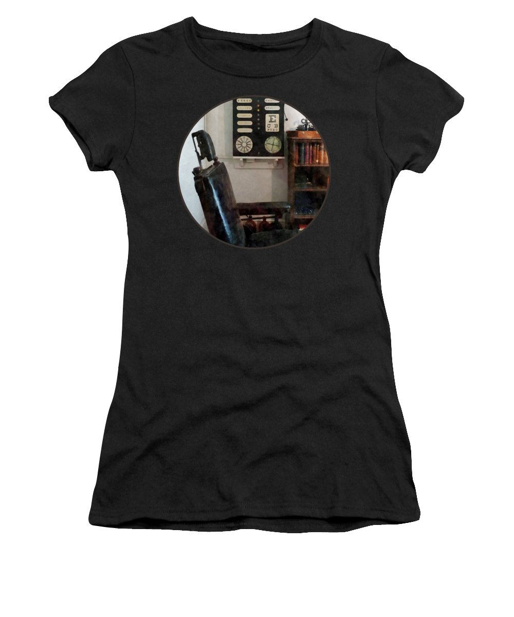 Eye Chart Women's T-Shirt featuring the photograph Optometrist - Eye Doctor's Office With Eye Chart by Susan Savad