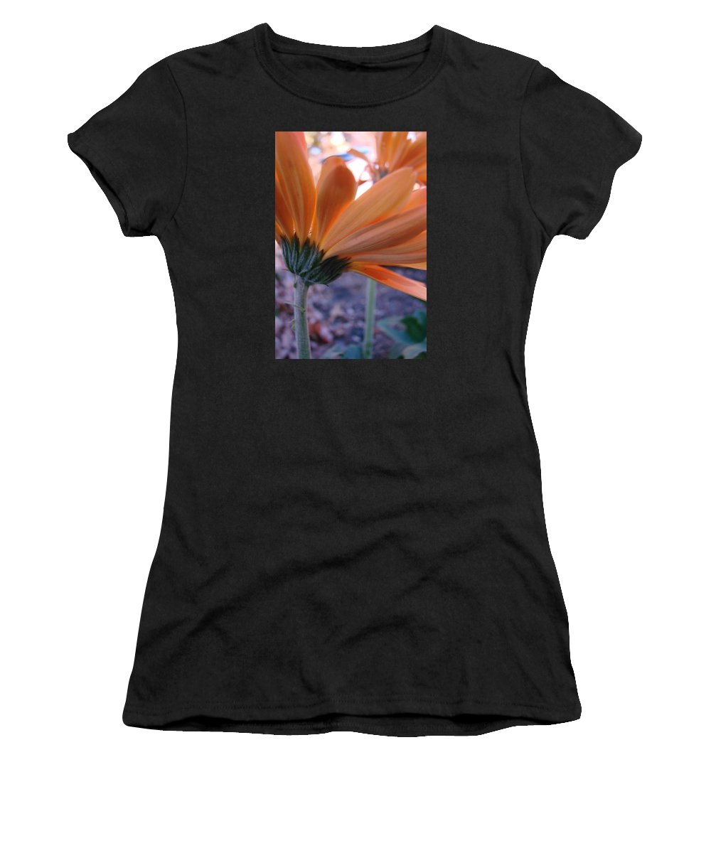 Orange Women's T-Shirt (Athletic Fit) featuring the photograph Orange Lady by Mary Halpin