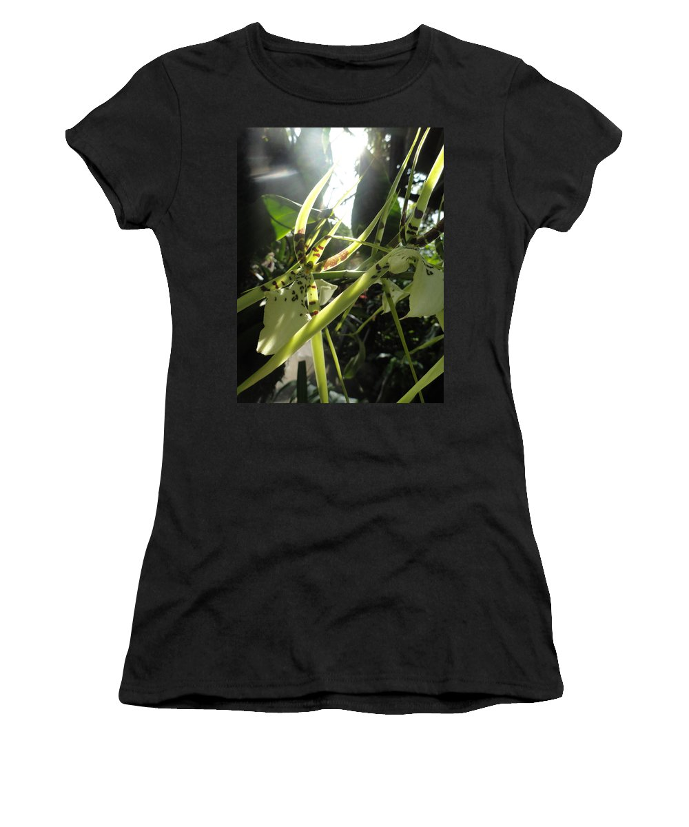 Orchid Women's T-Shirt featuring the photograph Orchid Light by Trish Hale