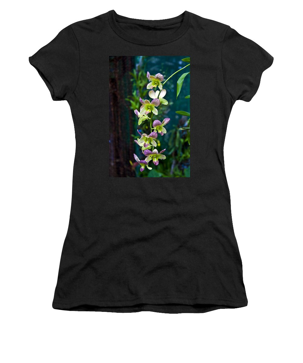 Nature Women's T-Shirt (Athletic Fit) featuring the photograph Orchids by George Cabig