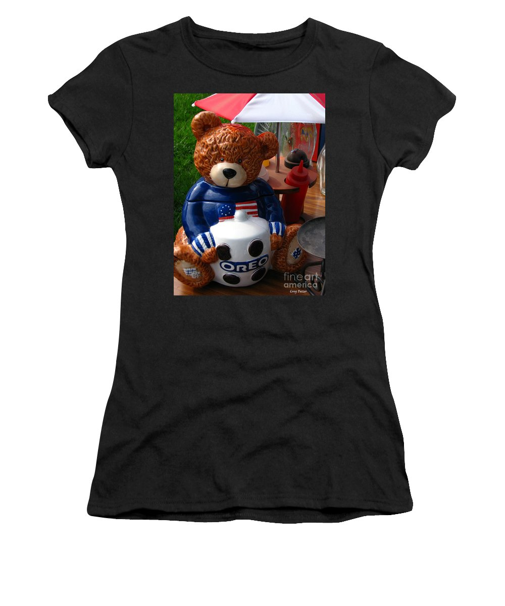 Patzer Women's T-Shirt (Athletic Fit) featuring the photograph Oreo by Greg Patzer