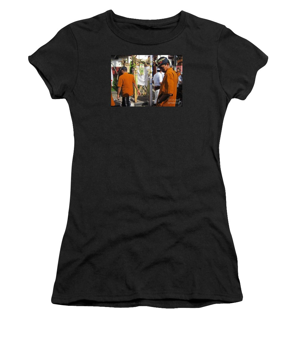 City Women's T-Shirt (Athletic Fit) featuring the pyrography Ost Street by Yury Bashkin