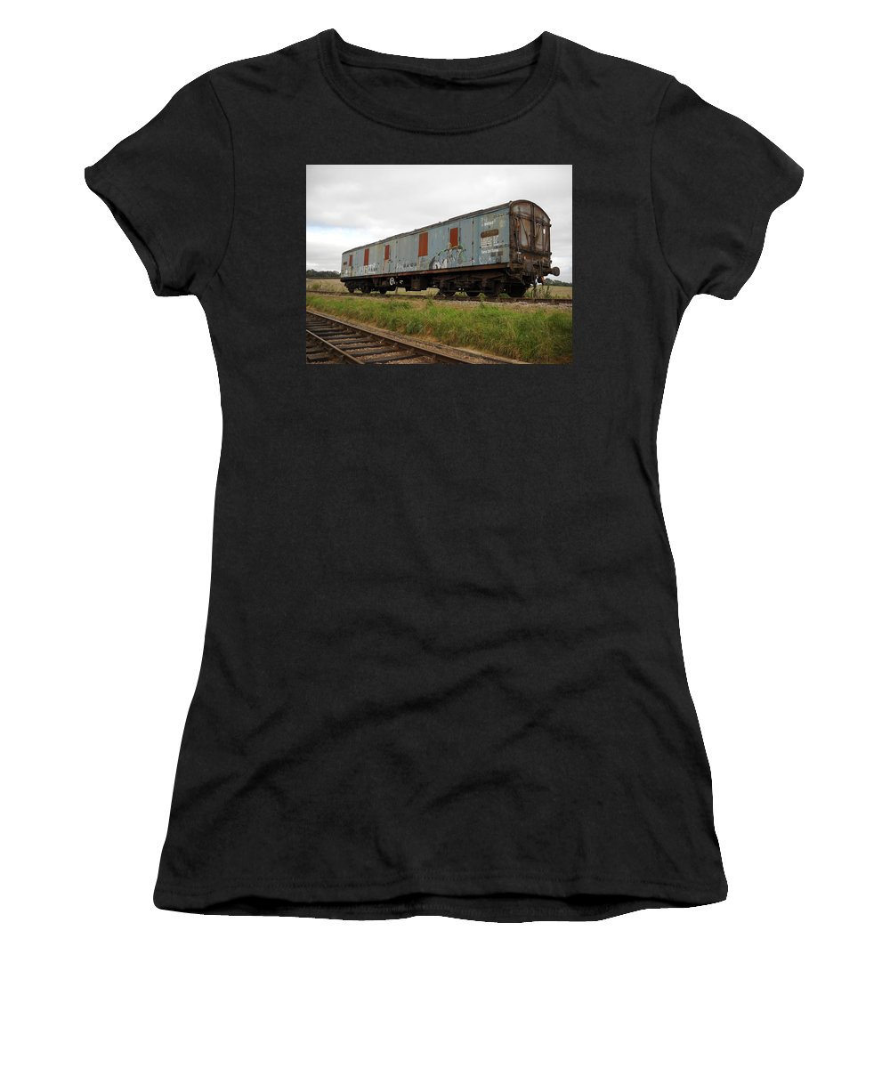 England Women's T-Shirt (Athletic Fit) featuring the photograph Out To Pasture by Julia Raddatz