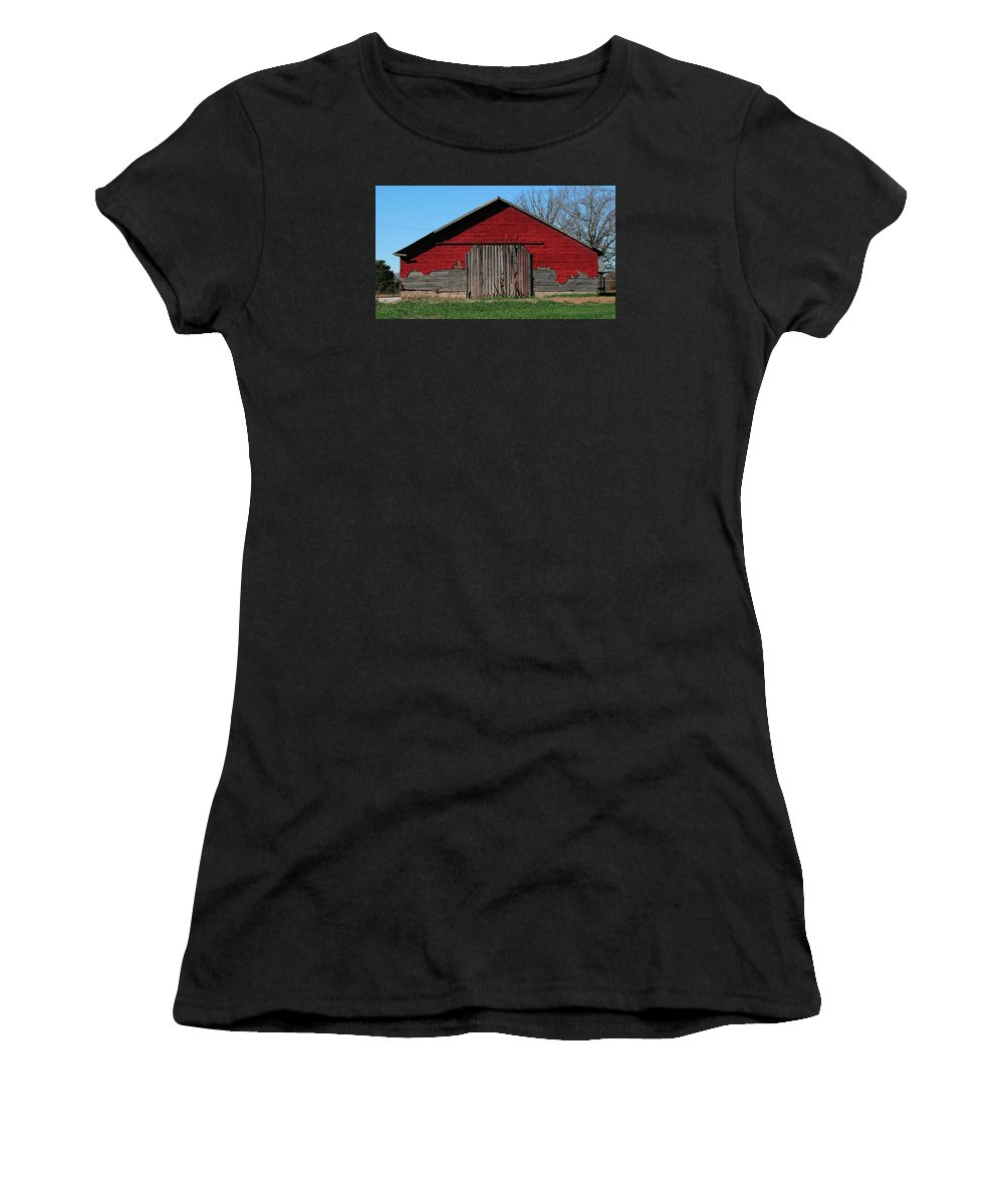 Farm Women's T-Shirt (Athletic Fit) featuring the photograph Outbuilding by Grant Groberg