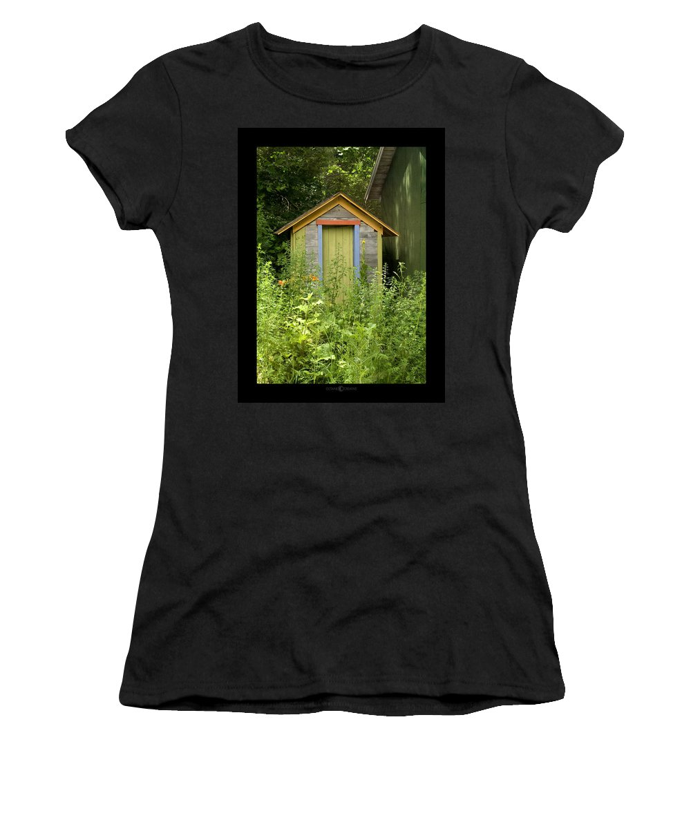Outhouse Women's T-Shirt (Athletic Fit) featuring the photograph Outhouse by Tim Nyberg