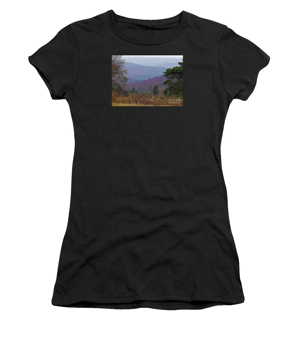 Hills Women's T-Shirt (Athletic Fit) featuring the photograph Over And Over And Over by Christian Mattison