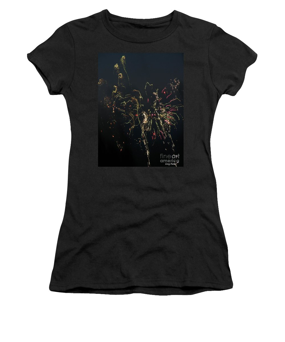 Patzer Women's T-Shirt (Athletic Fit) featuring the photograph Over Fort Lee by Greg Patzer