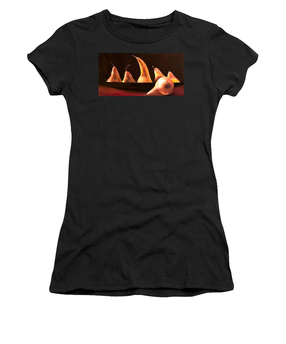 Still Life Women's T-Shirt (Athletic Fit) featuring the painting Overboard by Shannon Grissom