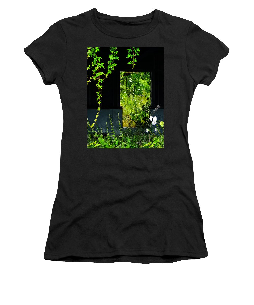 Weeds Women's T-Shirt (Athletic Fit) featuring the painting Overgrown by Rick Mosher