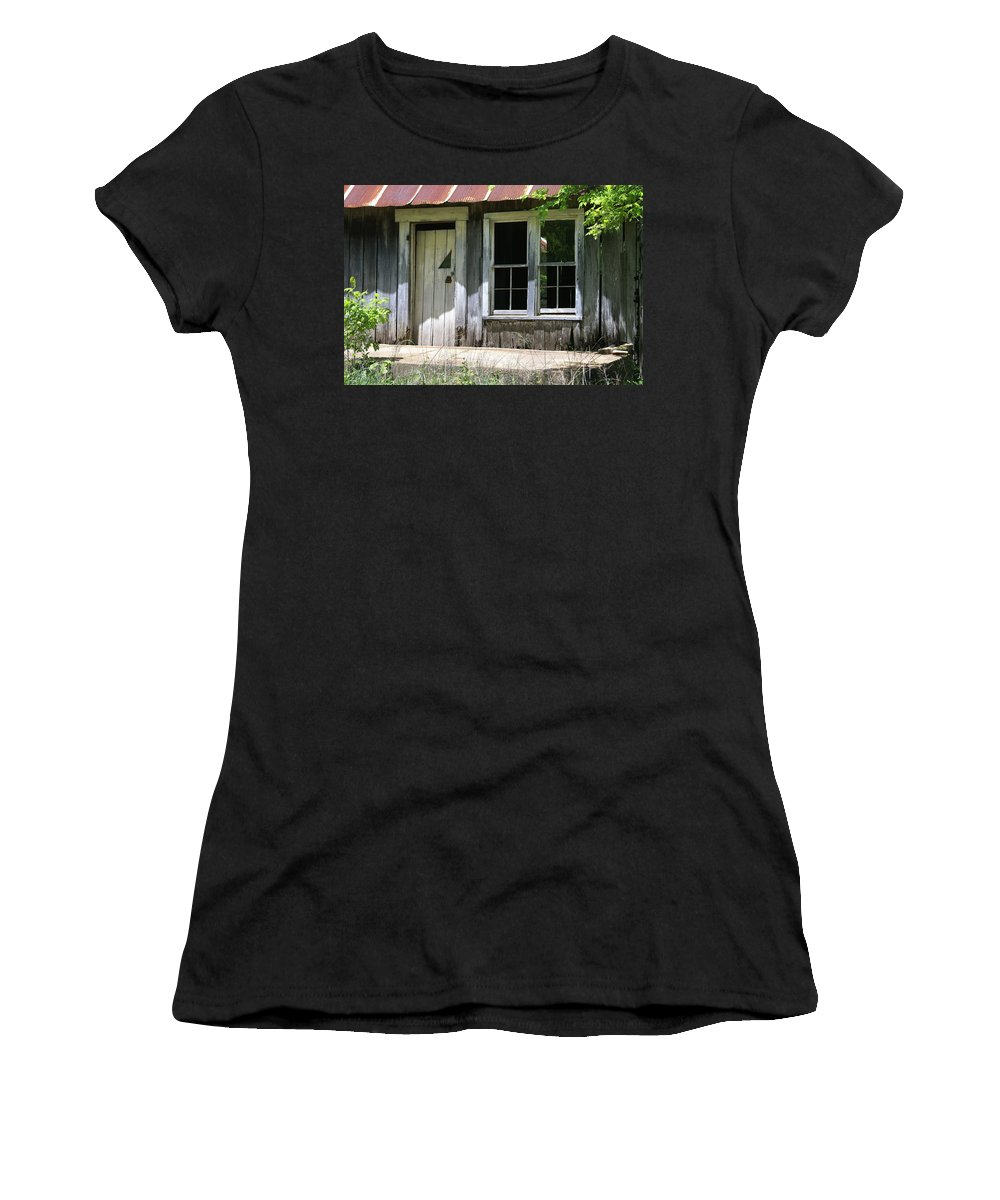 Historic Buildings Women's T-Shirt (Athletic Fit) featuring the photograph Ozark Homestead by Marty Koch