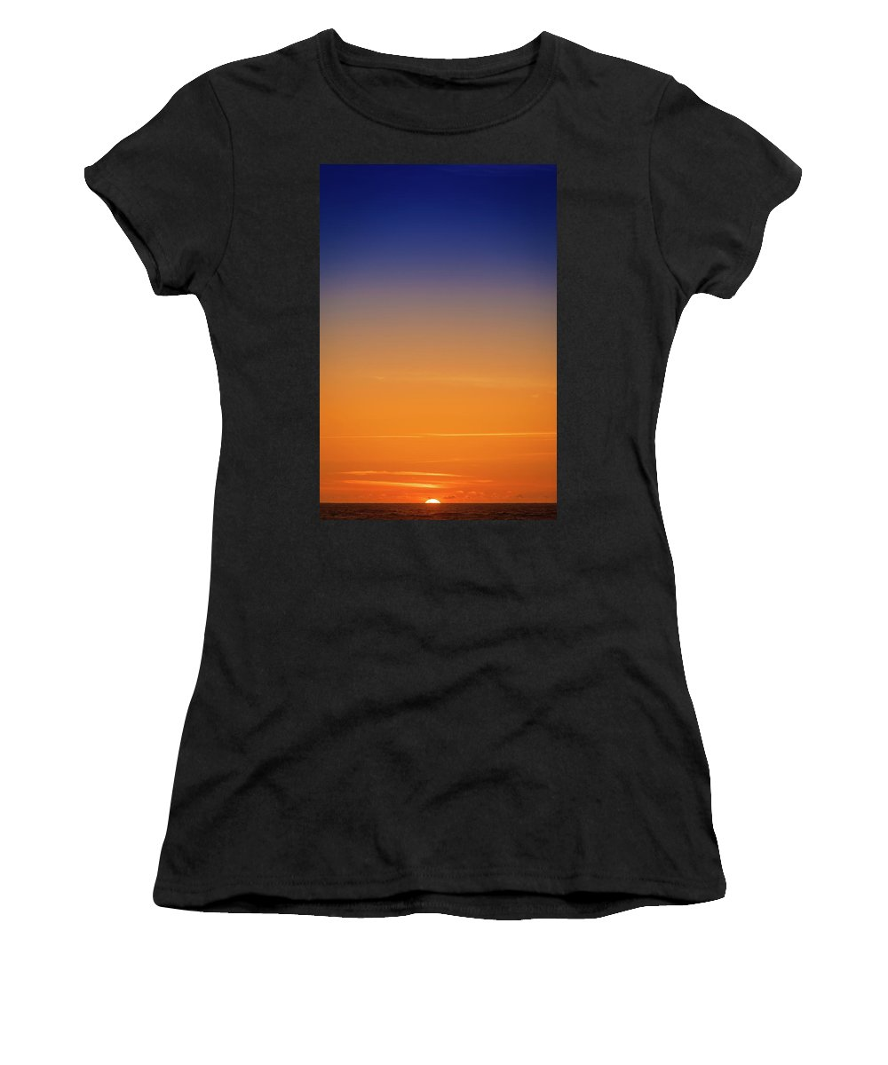 Pacific Ocean Women's T-Shirt featuring the photograph Pacific Ocean Sunset by Mike Penney