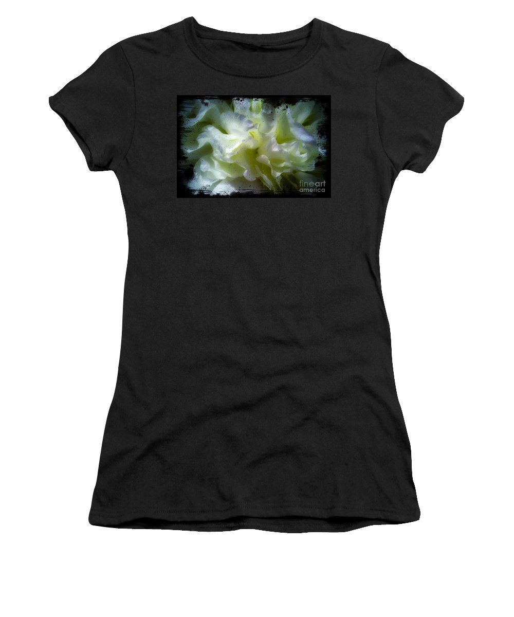 Flower Women's T-Shirt featuring the photograph Paint Splattered Frame by Sherman Perry