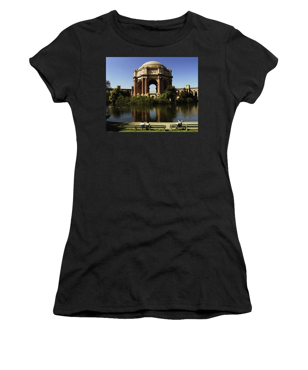 San Francisco Women's T-Shirt (Athletic Fit) featuring the photograph Palace Of Fine Arts Sf 2 by Lee Santa