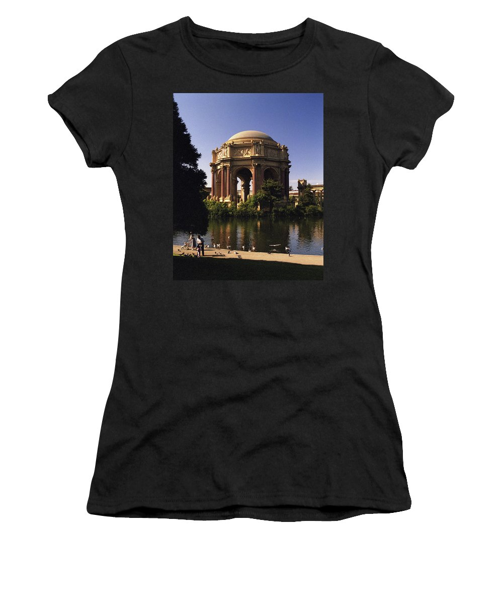 Palace Of Fine Arts Women's T-Shirt (Athletic Fit) featuring the photograph Palace Of Fine Arts Sf by Lee Santa
