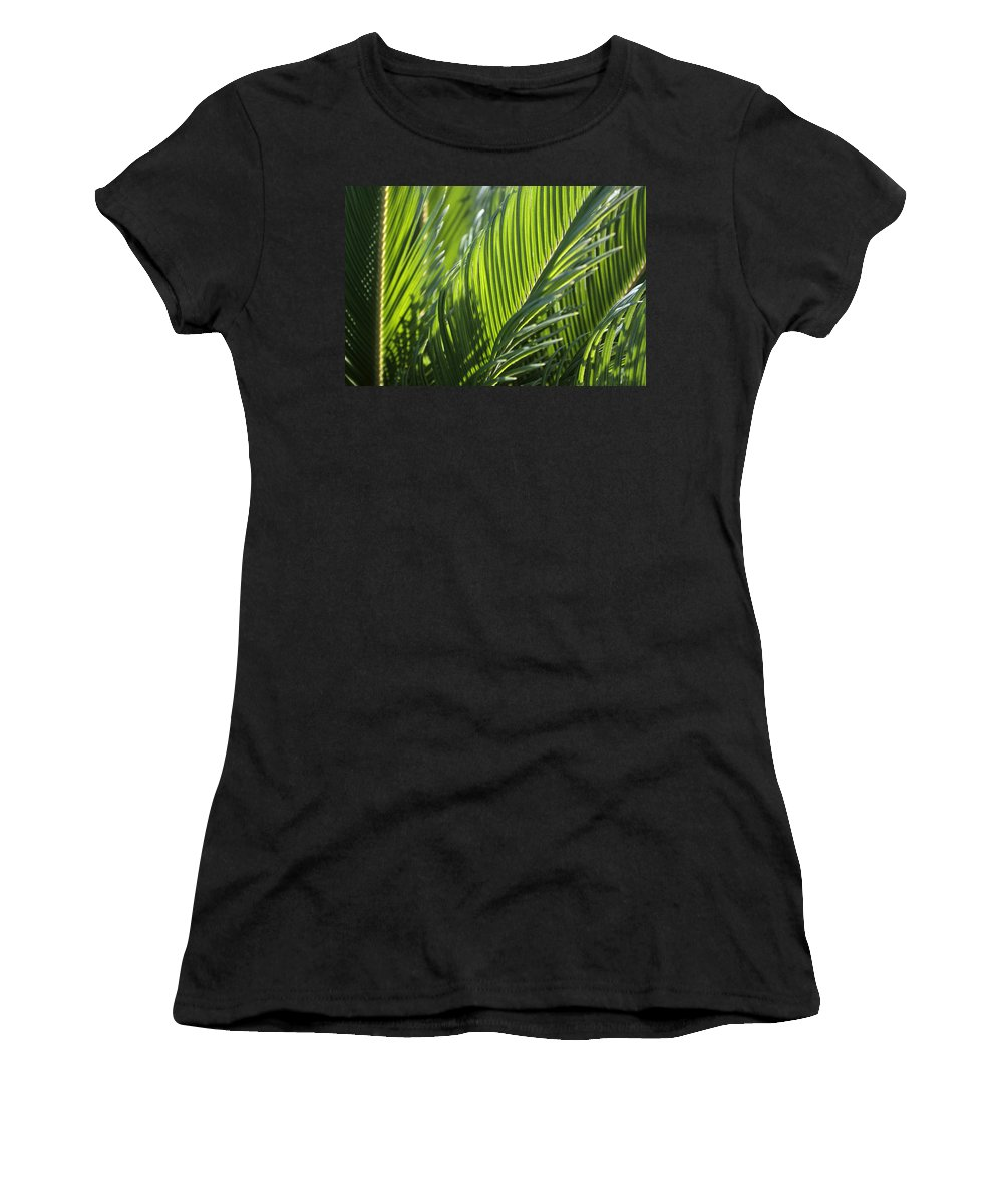 Palm Women's T-Shirt (Athletic Fit) featuring the photograph Palm Leaf by Phil Crean