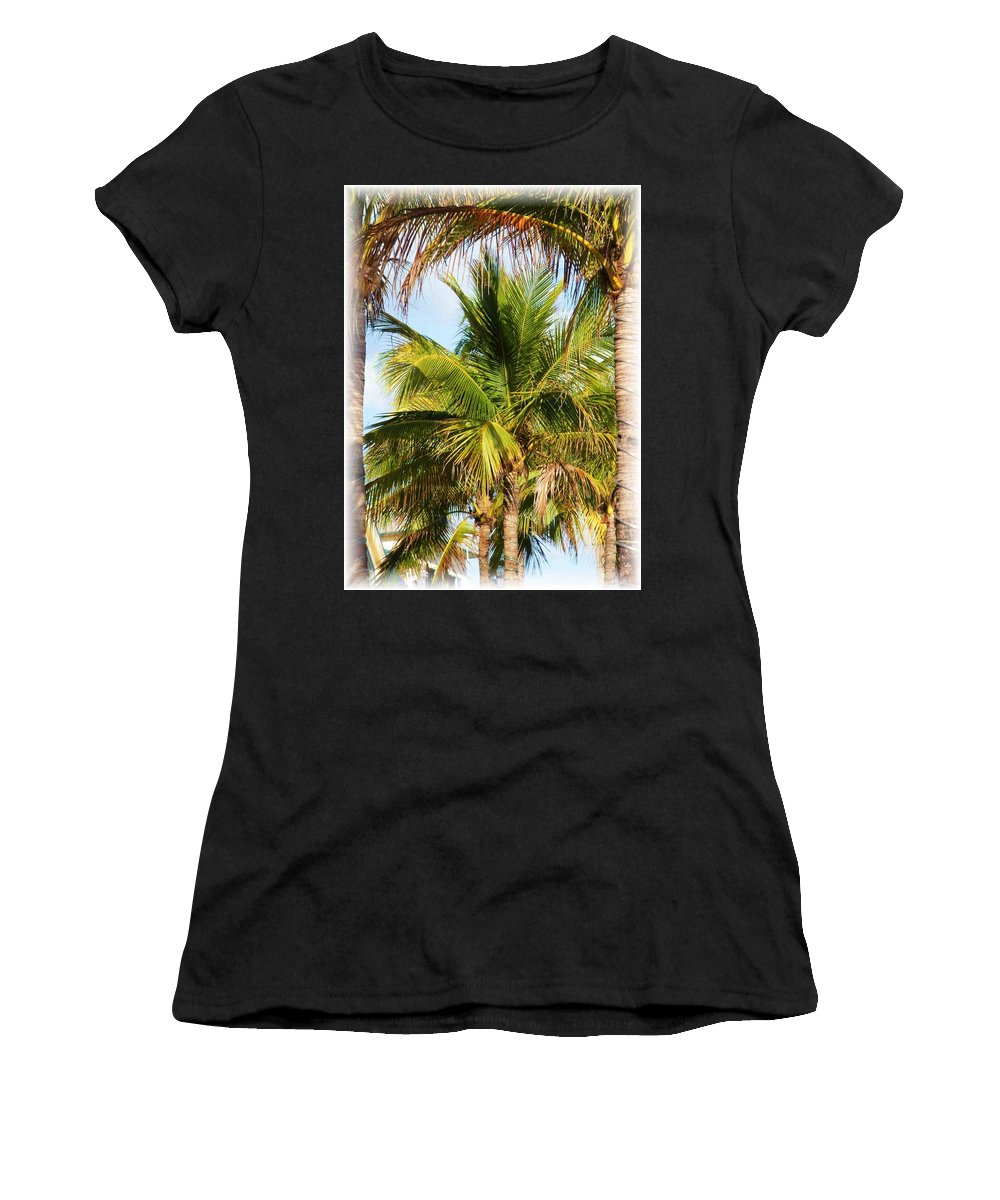 Palm Women's T-Shirt (Athletic Fit) featuring the photograph Palm Portrait by Nelson Strong