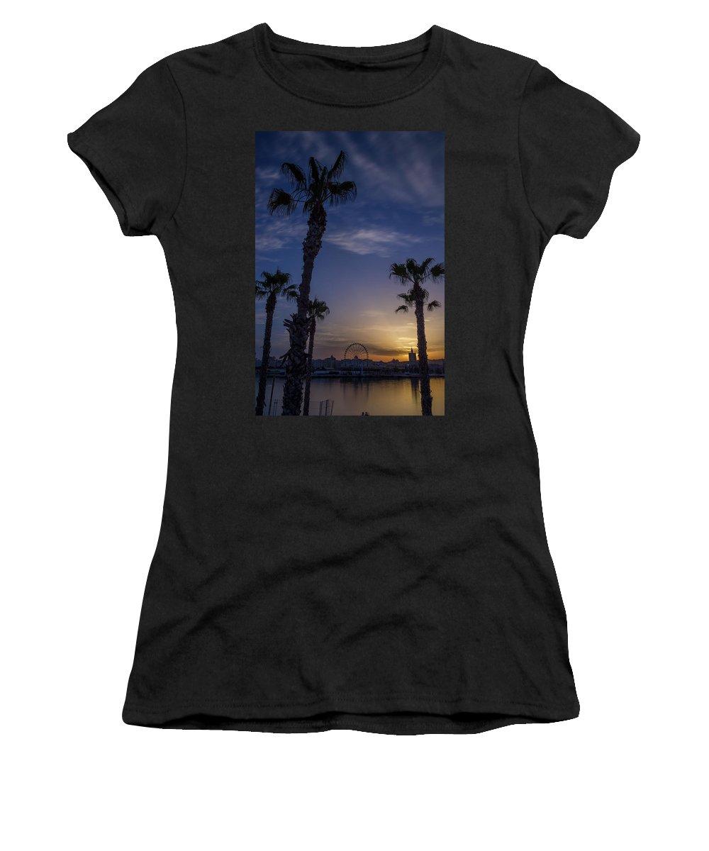 Espanha Women's T-Shirt featuring the photograph Palm Trees by Joao Nuno Dias