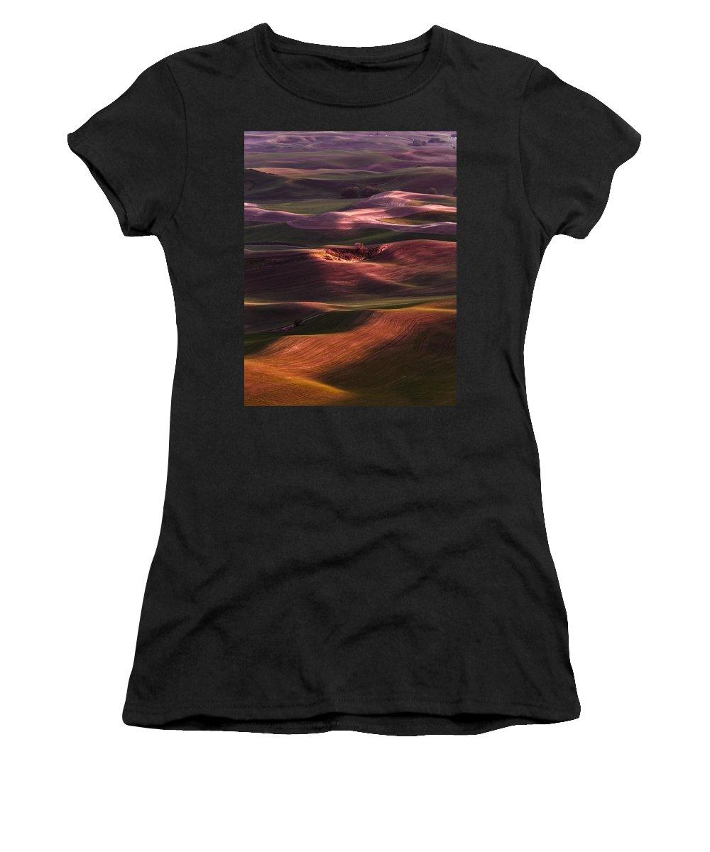 Palouse Undulation Women's T-Shirt featuring the photograph Palouse Undulation by Wes and Dotty Weber