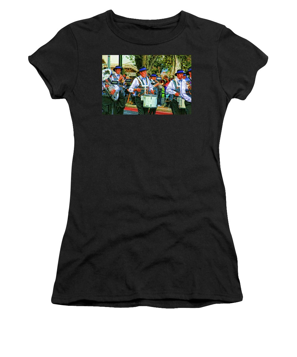 Band Women's T-Shirt (Athletic Fit) featuring the photograph Parade Musicians by Douglas Barnard