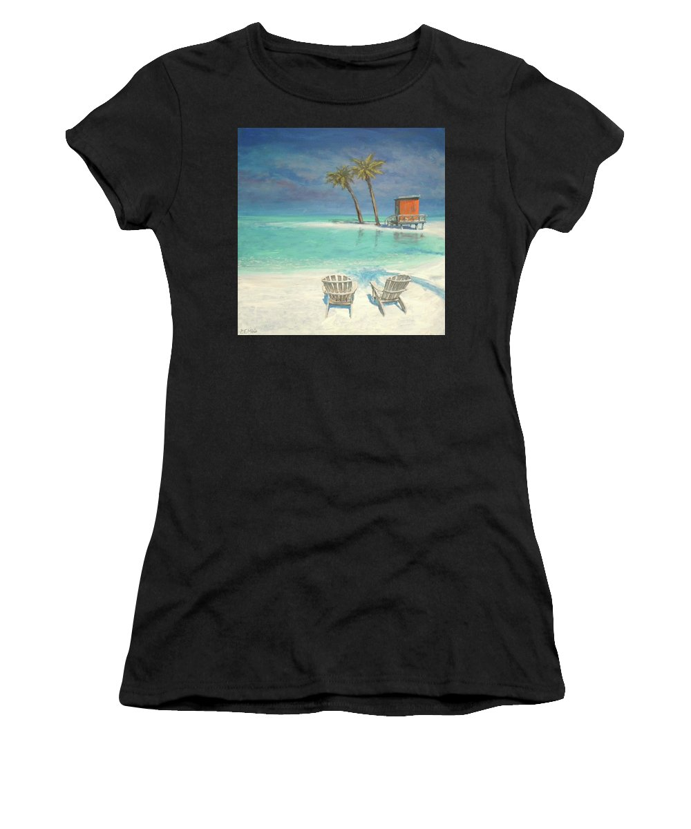 Beach Women's T-Shirt featuring the painting Paradise Dream by Paul Emig