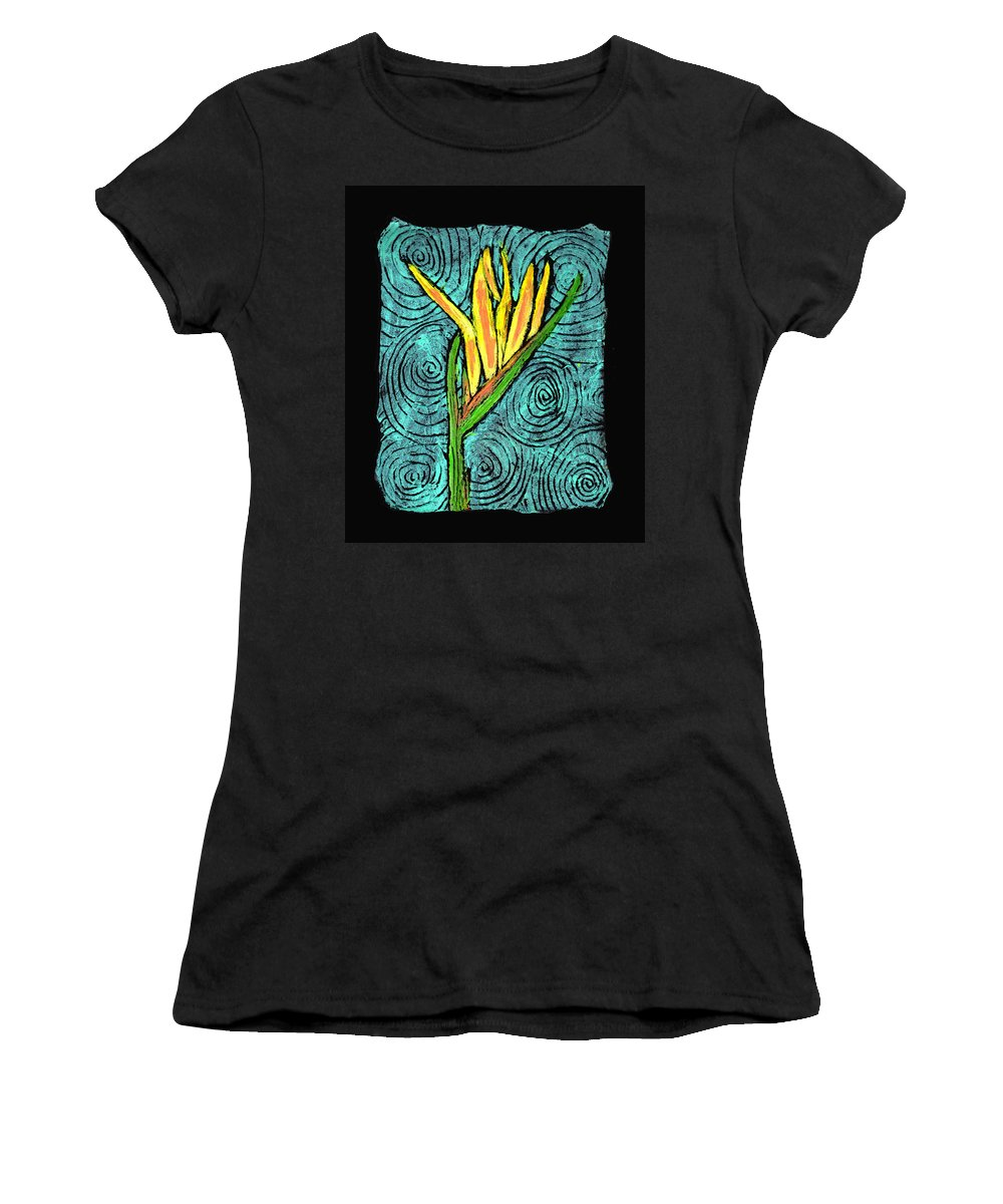 Flower Women's T-Shirt (Athletic Fit) featuring the painting Paradise by Wayne Potrafka