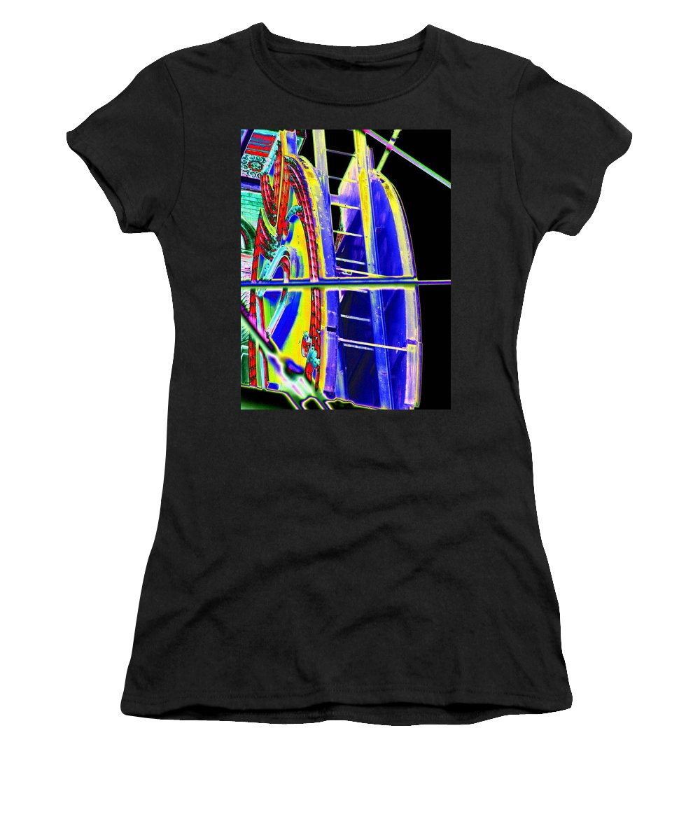 Seattle Women's T-Shirt (Athletic Fit) featuring the digital art Paramount Theater Detail by Tim Allen