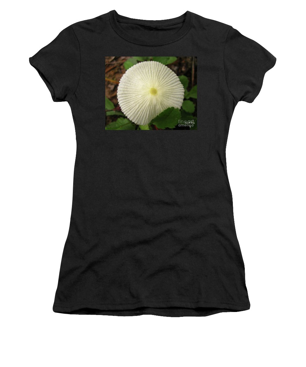 Mushroom Women's T-Shirt featuring the photograph Parasol Mushroom by Donna Brown