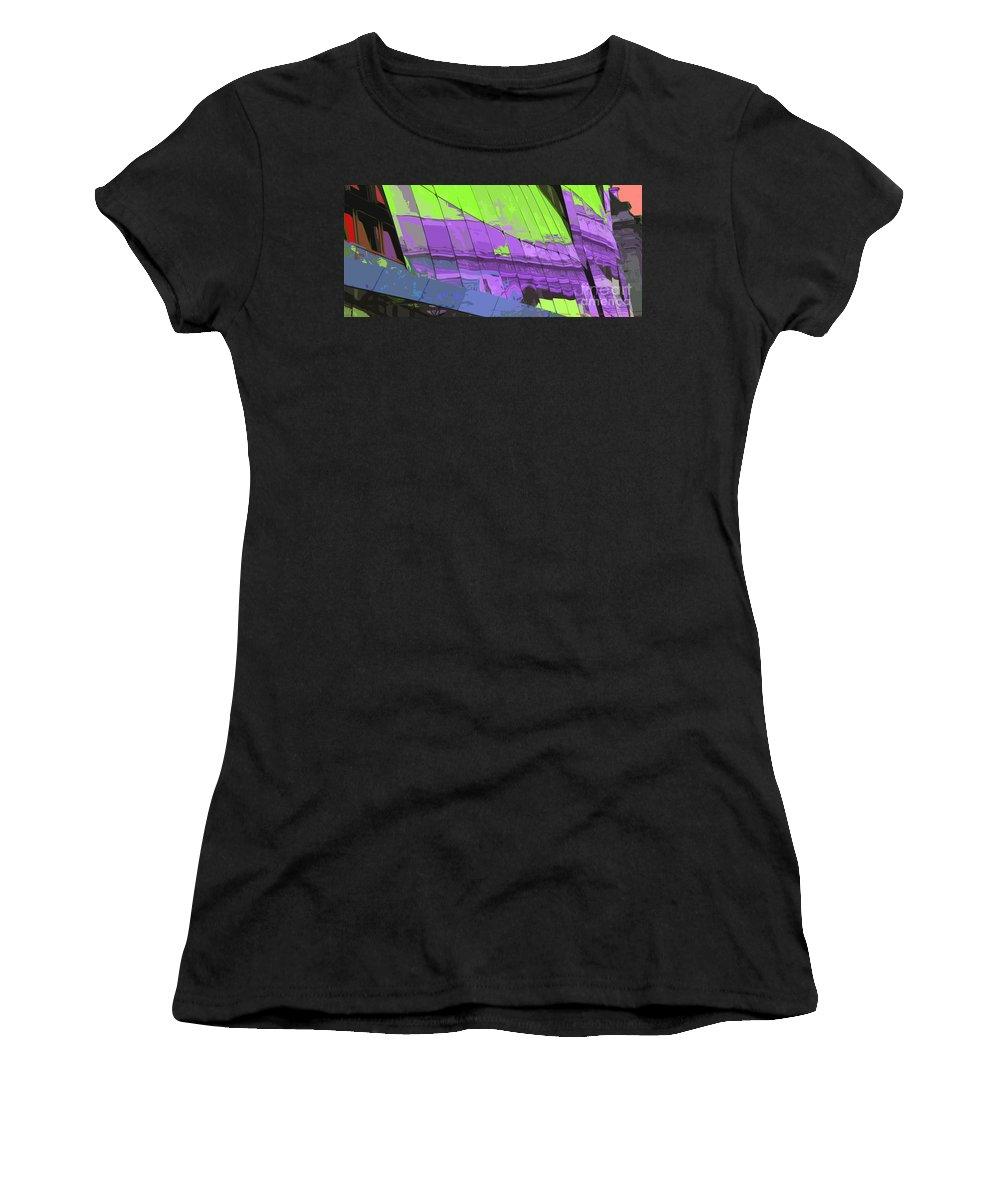 Paris Women's T-Shirt (Athletic Fit) featuring the photograph Paris Arc De Triomphe by Yuriy Shevchuk