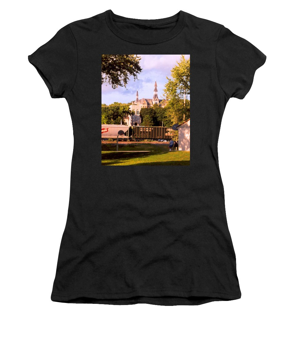 Landscape Women's T-Shirt (Athletic Fit) featuring the photograph Park University by Steve Karol