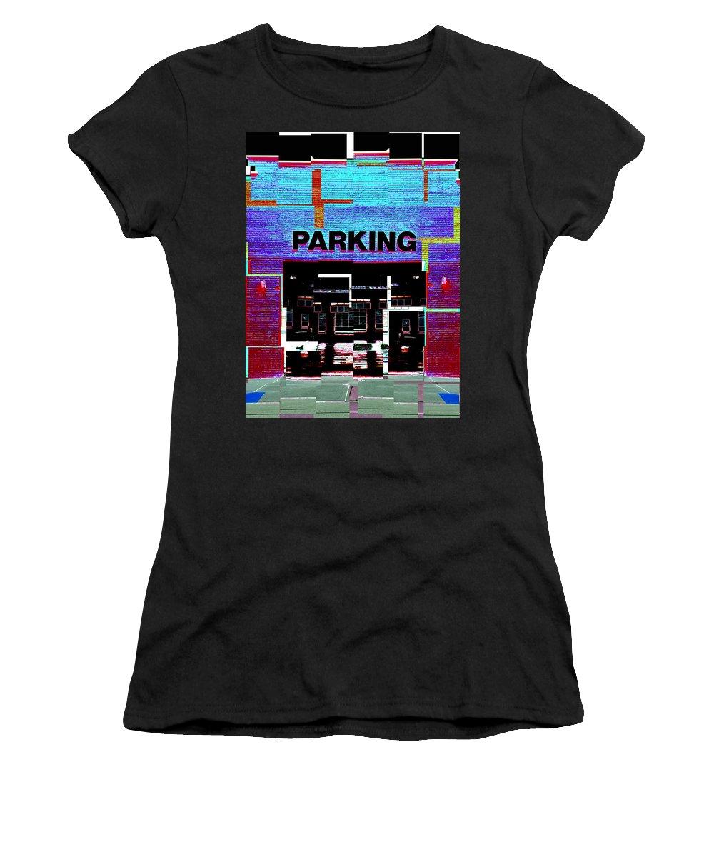 Parking Lot Women's T-Shirt (Athletic Fit) featuring the digital art Parking by Tim Allen