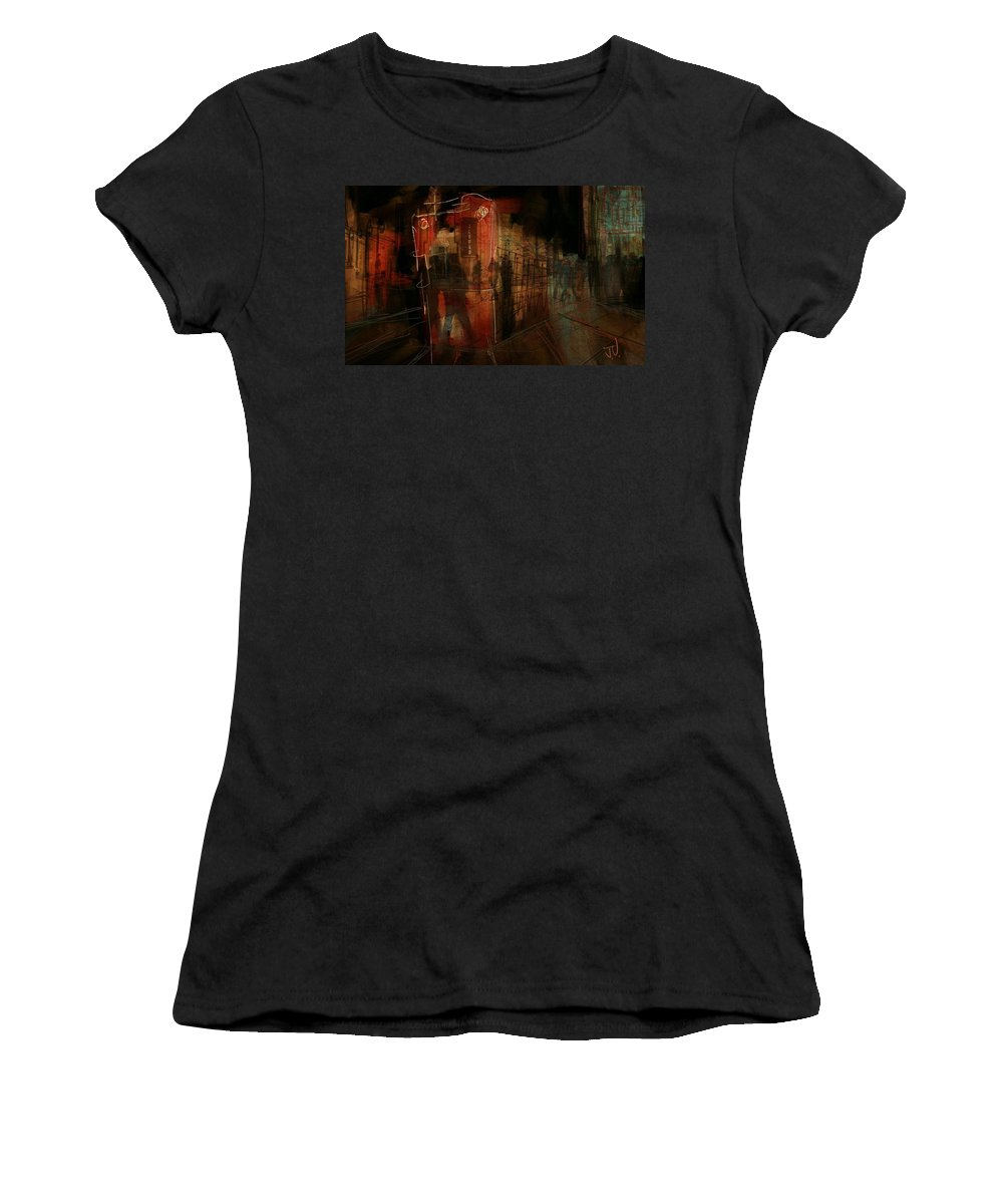 Abstract Women's T-Shirt (Athletic Fit) featuring the digital art Passers In The Night by Jim Vance